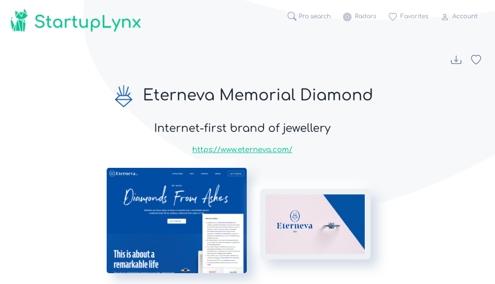 Eterneva, internet brand of jewellery made from ashes
