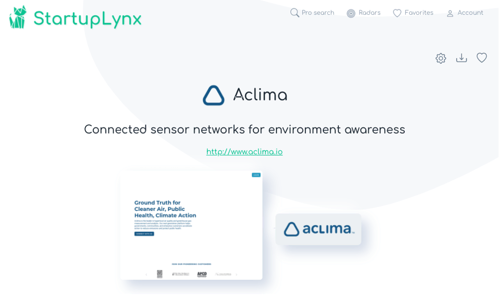 Aclima designs and deploys environmental sensor networks that collect, process, and understand real-time data about the environment