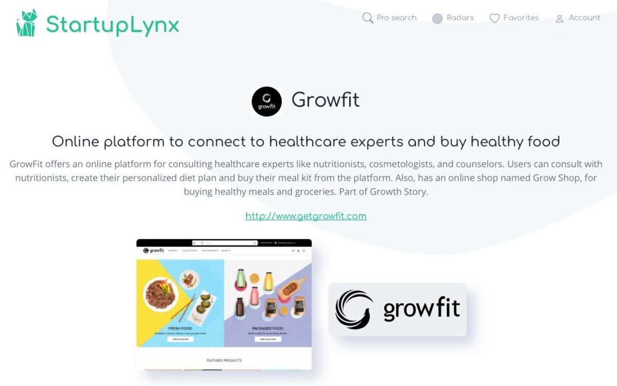 GrowFit offers an online platform for consulting healthcare experts like nutritionists, cosmetologists, and counselors.