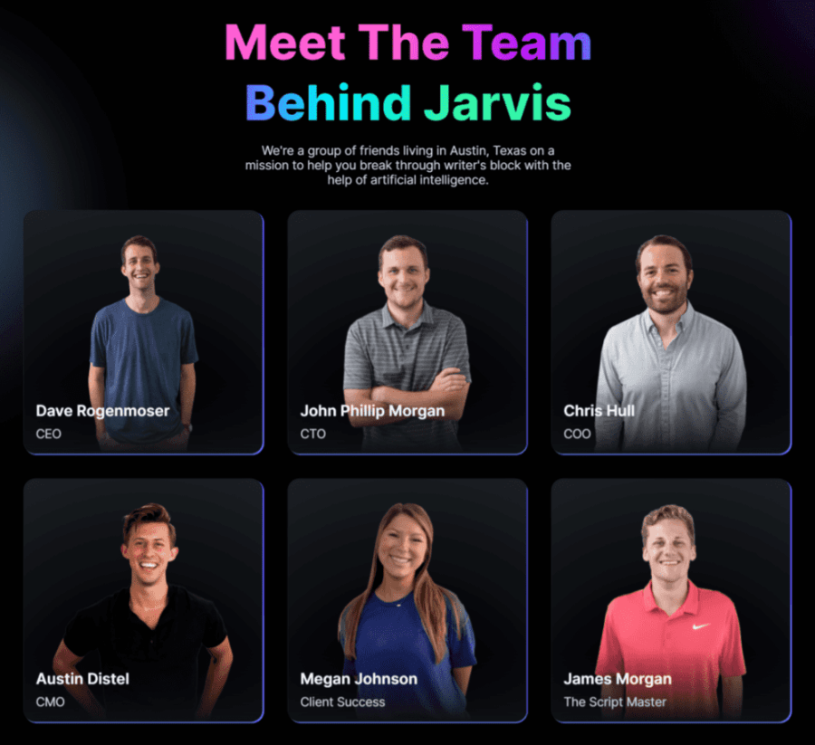 Dave Rogenmoser: Jarvis AI team