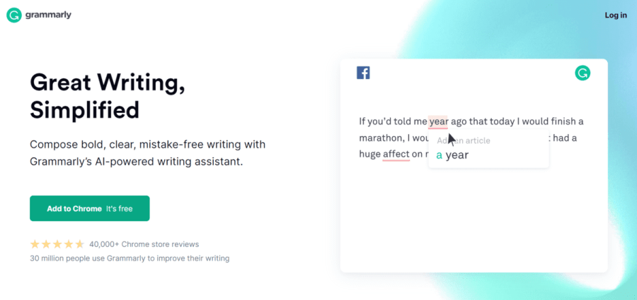 Grammarly: AI writing software