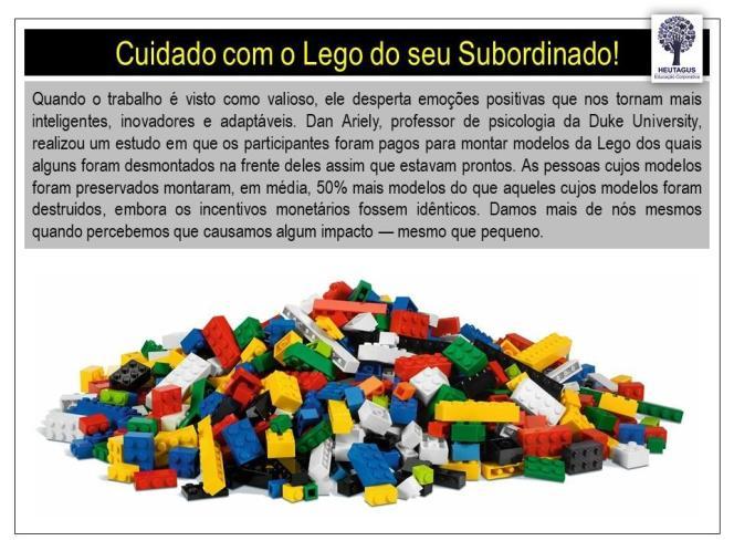 Lego da Motivação Dan Ariely