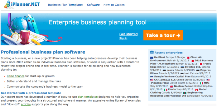 10 Best Business planning softwares for startup's