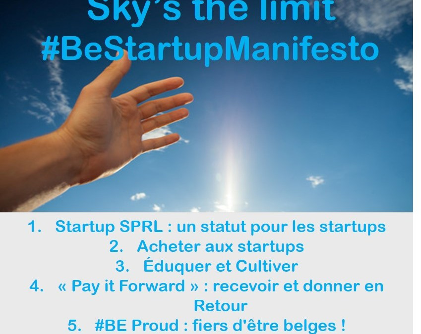 Sky's the limit : le Startup Manifesto