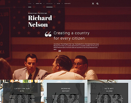 Political Party WordPress Theme