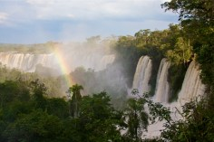 Panorama of Iguazu Falls from the Upper Trail on Argentinean side