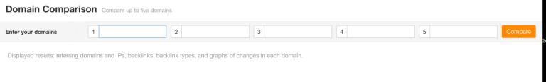 domain comparison tool in ahrefs