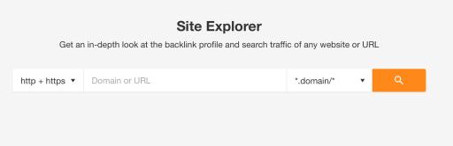 ahrefs site explorer tool