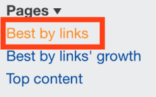 best by links report in Ahrefs' site explorer