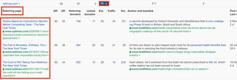 individual links to healthline.com from nytimes.com