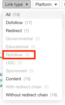 no follow links