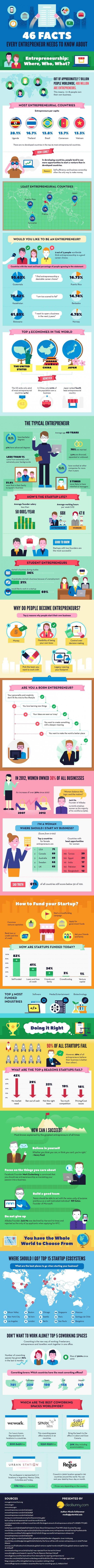 Infografik Entrepreneure und StartUps (Bild: Dealsunny)