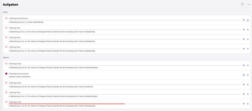 Combin Aufgaben (Bild: Combin / Screenshot: StartUpWissen.biz)