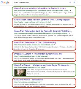 Mehrere Treffer in der Google-Suche (Bild: Trusted Blogs)