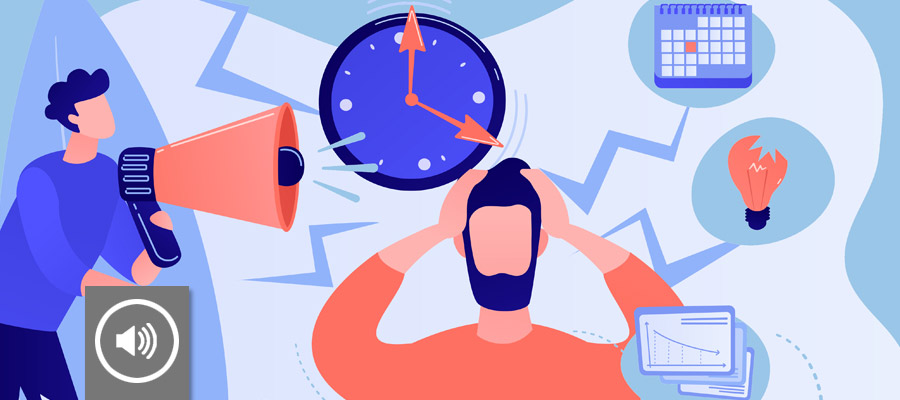 StartUpWissen Podcast - Stress (Bild: Character vector created by vectorjuice - www.freepik.com)