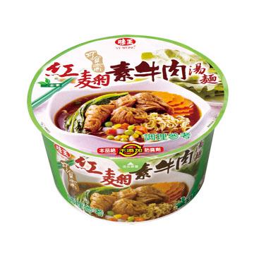 味王 紅麴素牛肉湯麵