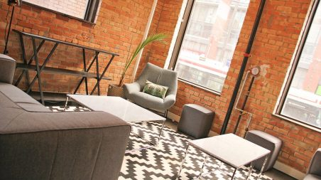 Our lounge space overlooking King Street