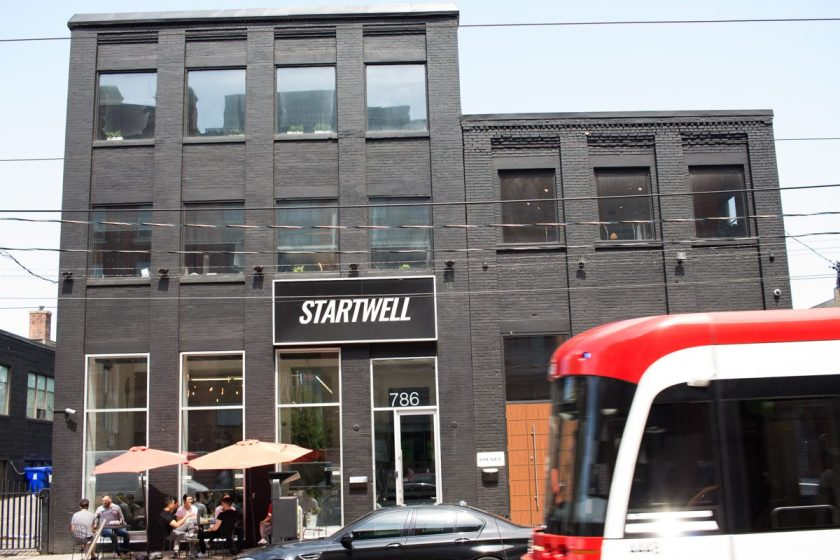 StartWell's King Street West Hub, with 17,000 square feet spread between 2 buildings and 4 floors which houses 50+ local startups