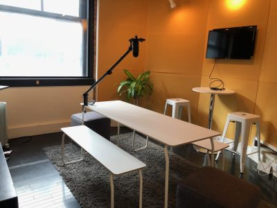 The StartWell Podcast Studio on King Street West