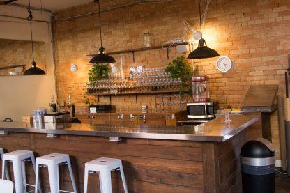 A built in bar