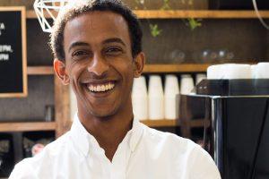 Gabriel Gebreselassie, Barista at StartWell