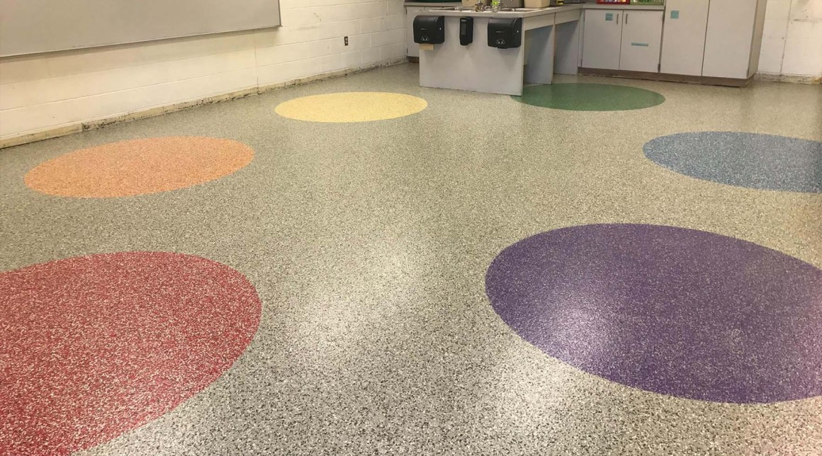 custom patterned seamless floor