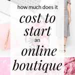 Want to start an online boutique? Interested in finding out how much it will cost to start an online boutique? Click through to find out how much money you need to start a SUCCESSFUL online boutique.