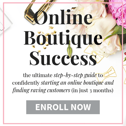How to start an Online Boutique course