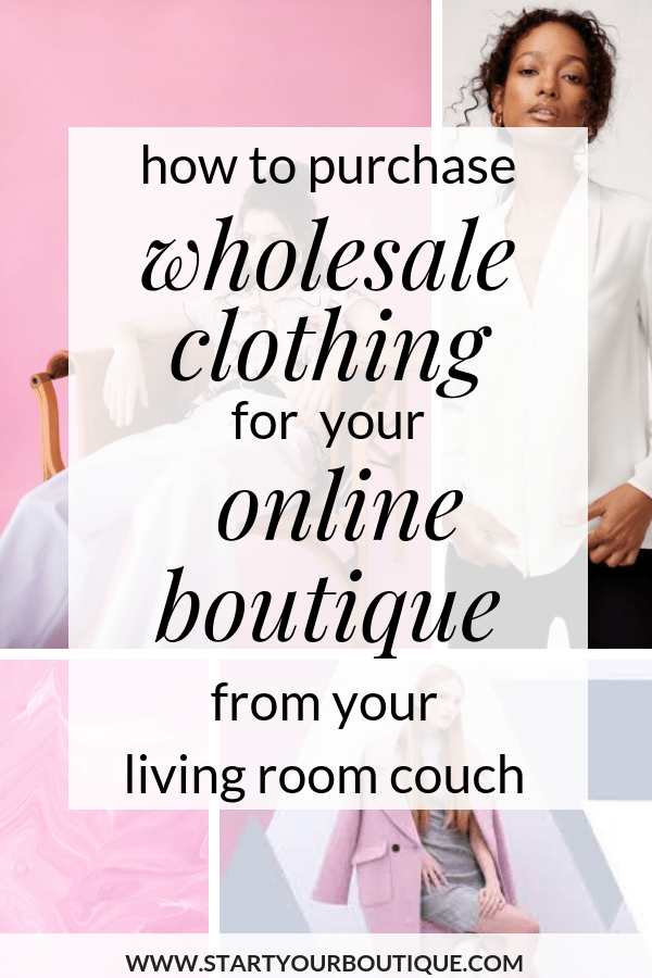 Starting an online boutique business is an amazing work from home opportunity. SAVE THIS PIN then click to learn how you can buy wholesale boutique clothing from your house! #momboss #makemoneyonline #workfromhome #startanonlineboutique