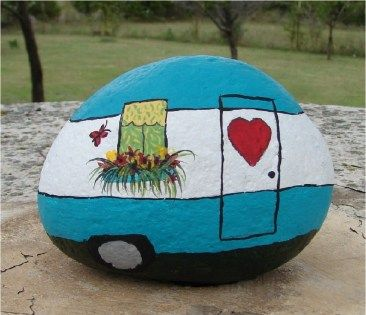 99 DIY Ideas Of Painted Rocks With Inspirational Picture And Words (37)…
