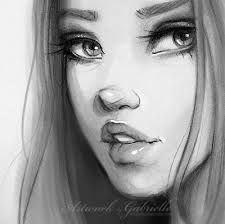 pencil drawings of girls faces – Google Search