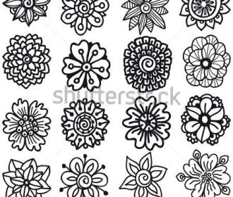 Drawing Flowers|Hand Drawn Vector Flowers|Set Of Sketch Flowers For Your Design….