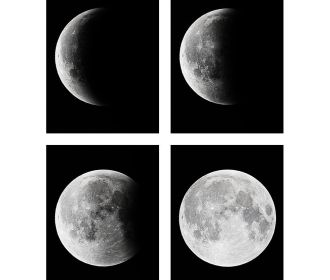 Pictures on Canvas Wall Art Canvas Prints Moon Artwork for Bedroom Home Office
