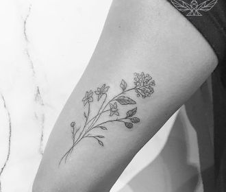 """Bunch of Flowers"" (Tricep) #instatattoos #newtattoo #tattooartist #inkedup #tat…"