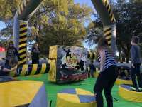 nuclear wipeout obstacle course | Eliminator | Meltdown inflatable game for rent