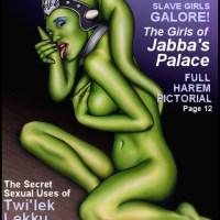 One of Jabba's naked twi-leeks is on the cover of magazine!