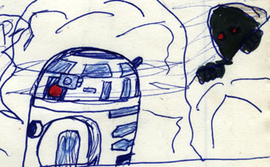 artoo and the jawas comic page detail