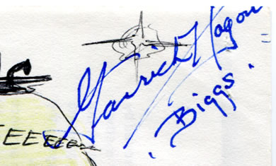 garrick hagon biggs autograph