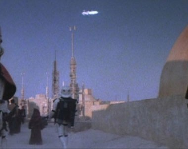 the falcon blasts out of mos eisley docking bay 94!