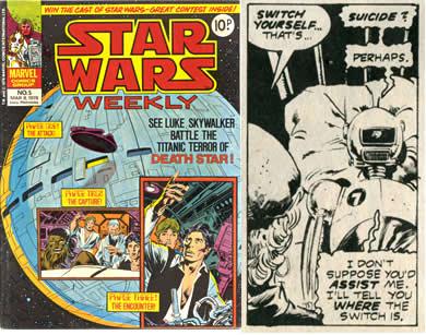 war toy star wars weekly comic