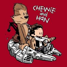 sam watterson style picture of han and chewie