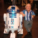 Kenny Baker and R2-D2. Photographer unknown.