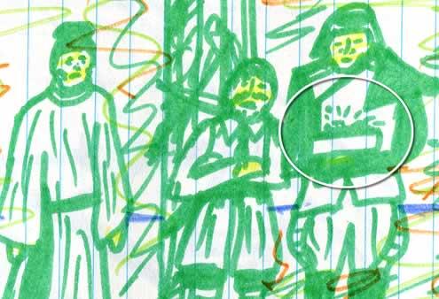 throne room scene star wars (Kid's drawing—detail)