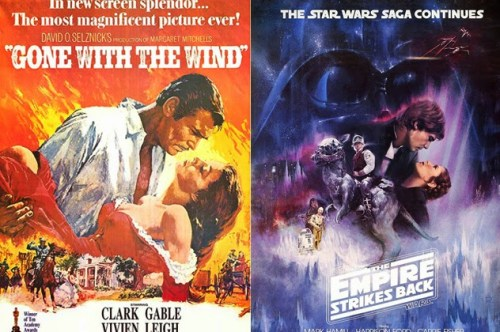 gone with the wind empire strikes back posters comparison
