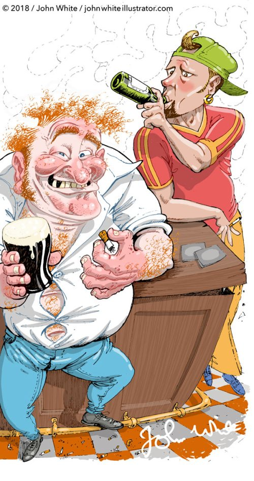 culchi townie illustration for the sunday independent newpaper