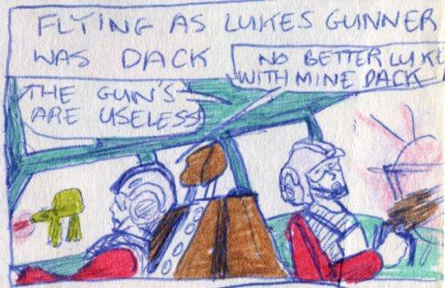 inside luke and dack's snowspeeder cockpit