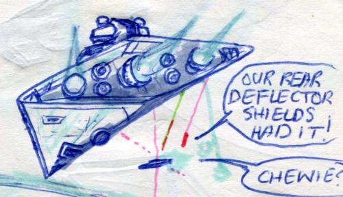 imperial star destroyer comic page detail