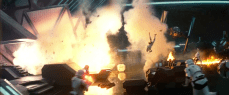 A TIE attacks a First Order base