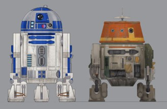 Final R2-D2 vs Concept Drawing by Ralph McQuarrie