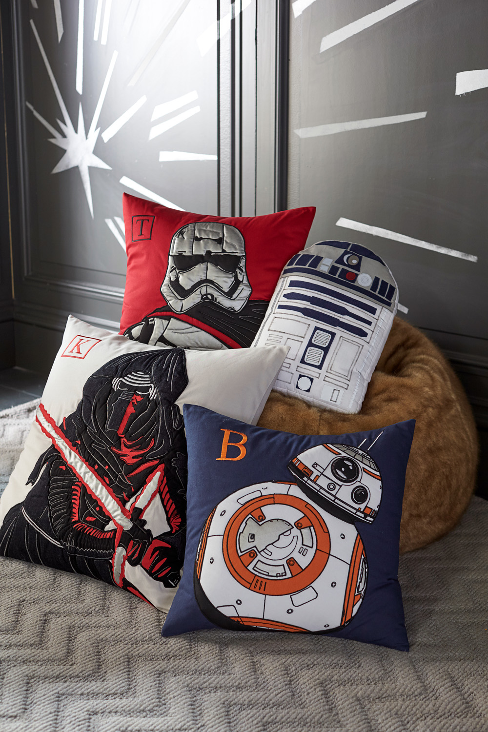 Pottery Barn Star Wars Collection   Preview    StarWars com Pottery Barn Star Wars pillows